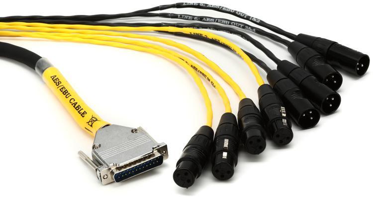 Avid DB25-XLR M+F AES/EBU DigiSnake - 4\' image 1