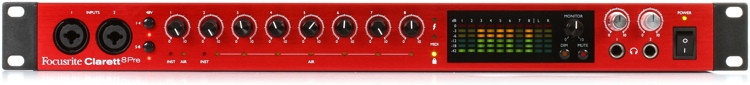 Focusrite Clarett 8Pre 18x20 Thunderbolt Audio Interface image 1
