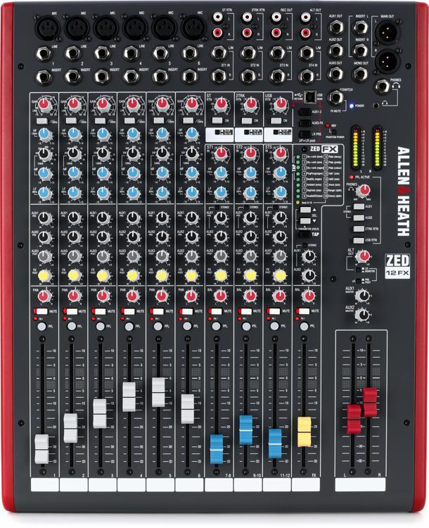 Allen & Heath ZED-12FX Mixer with Effects image 1