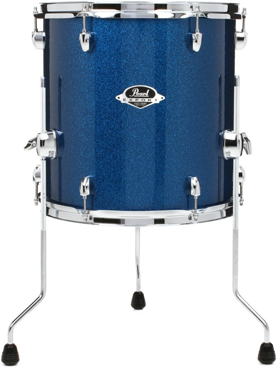 pearl export exx floor tom 14x14 electric blue sparkle sweetwater. Black Bedroom Furniture Sets. Home Design Ideas