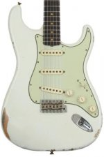 Fender Custom Shop 1960 Relic Stratocaster - Aged Olympic White with Rosewood Fingerboard