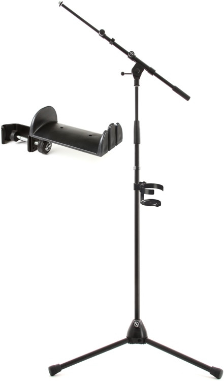 K&M Stand, Drink Holder, and Headphone/Cable Holder Pack - Black image 1
