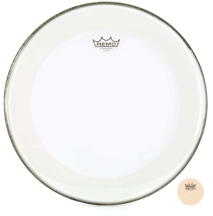 Remo Powerstroke 4 Clear Bass Drumhead - 18