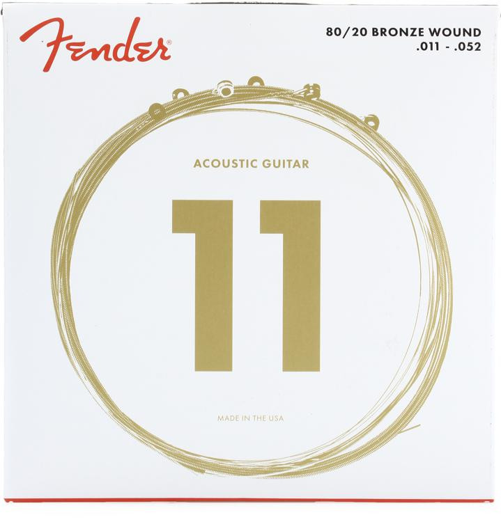 Fender 70CL 80/20 Bronze Custom Light Acoustic Strings image 1