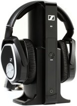 Sennheiser RS 165 RF Wireless Headphone System, Over Ear, Closed-back