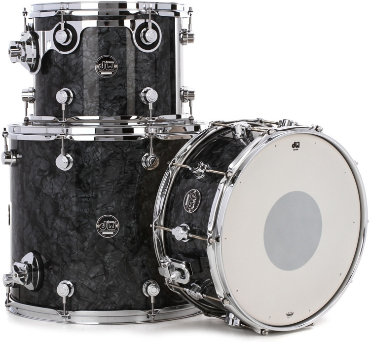 DW Performance Series 3-piece Tom/Snare Pack - Black Diamond Finish Ply image 1