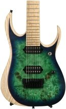 Ibanez RGDIX7MPB RGD Iron Label, Plek'd - Surreal Blue Burst