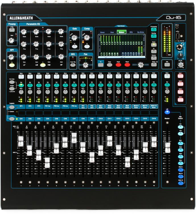 Allen & Heath Qu-16 Chrome Edition Digital Mixer image 1