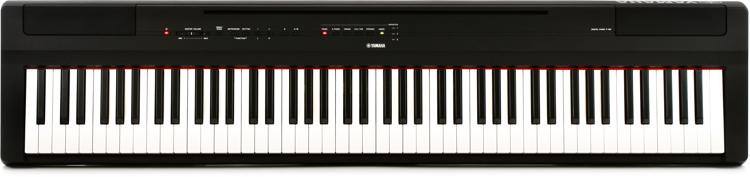 yamaha p 125 digital piano black sweetwater. Black Bedroom Furniture Sets. Home Design Ideas