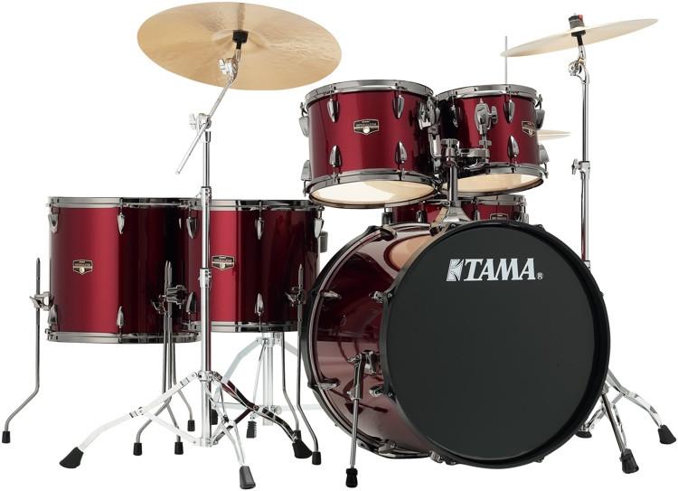 tama imperialstar complete drum set 6 piece vintage red with black nickel hardware sweetwater. Black Bedroom Furniture Sets. Home Design Ideas