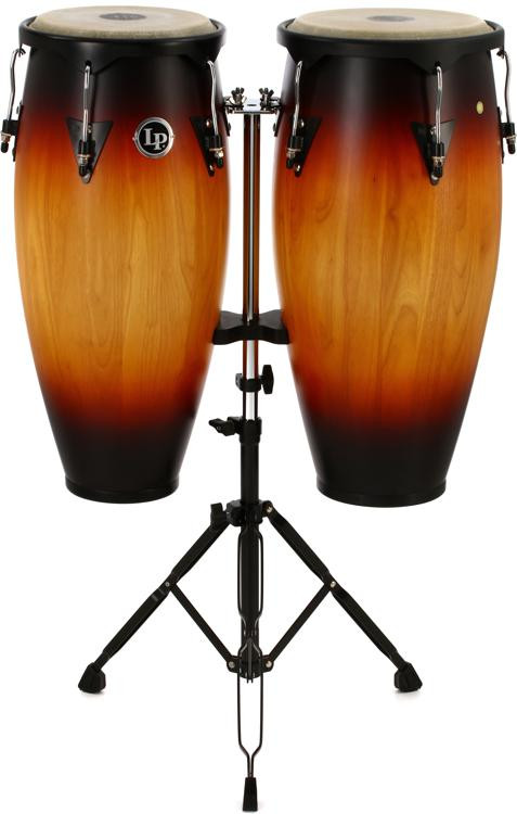 latin percussion city series conga set with stand vintage sunburst sweetwater. Black Bedroom Furniture Sets. Home Design Ideas
