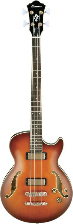 ibanez agb200 hollowbody bass with cutaway violin sunburst sweetwater. Black Bedroom Furniture Sets. Home Design Ideas
