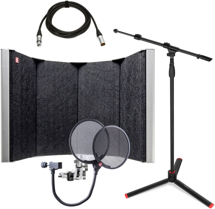 sE Electronics Reflexion Space Studio Package - w/Stand, Cable, and Pop Filter image 1