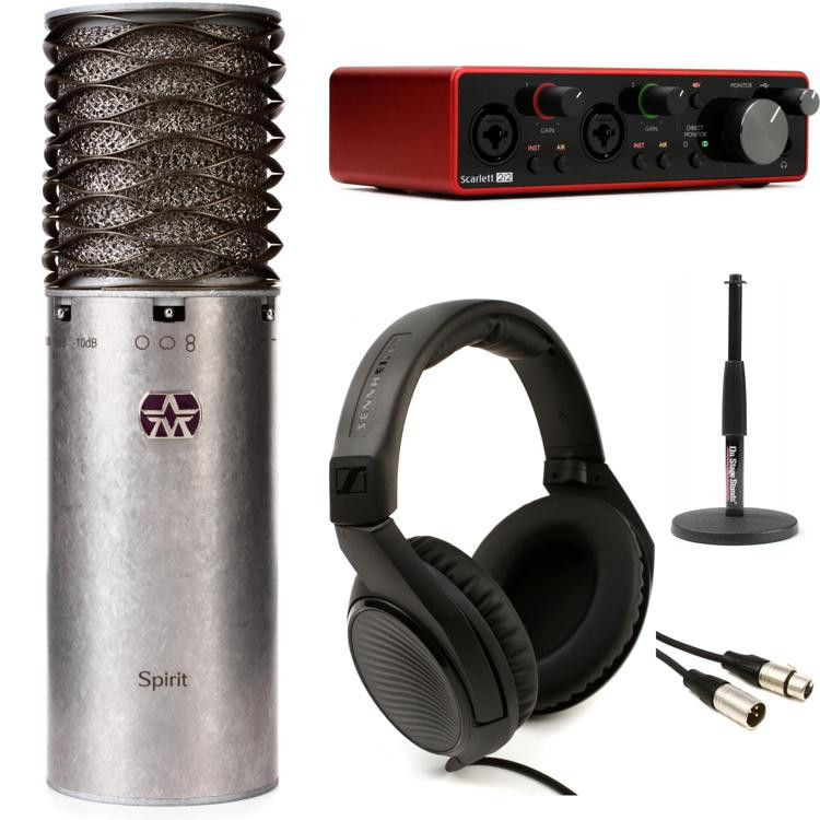 aston microphones spirit and scarlett recording package sweetwater. Black Bedroom Furniture Sets. Home Design Ideas