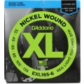 D'Addario EXL165-6 Nickel Wound Long Scale Light Top/Medium Bottom 6-String Bass Strings