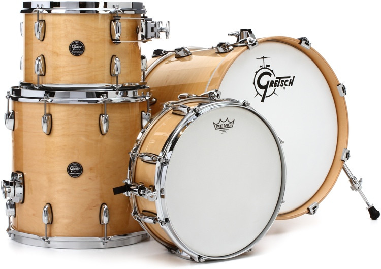 Gretsch Drums Renown 4-piece Jazz Shell Pack with Matching Snare - Gloss Natural image 1