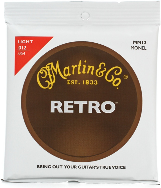 Martin MM12 Retro Acoustic Guitar Strings - 0.012 - 0.054 Light image 1