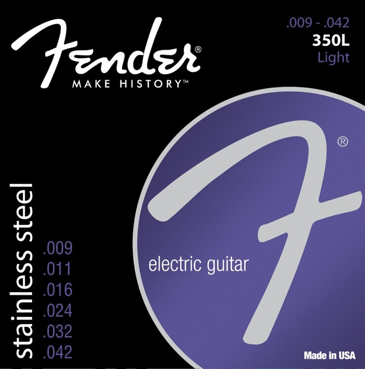 Fender Stainless 350L Stainless Steel Light Electric Strings image 1