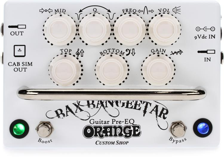 Orange Bax Bangeetar Guitar Pre-EQ Pedal - White image 1