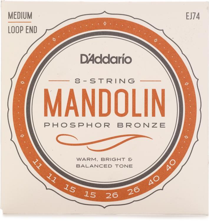 d 39 addario ej74 phosphor bronze mandolin strings 011 040 sweetwater. Black Bedroom Furniture Sets. Home Design Ideas