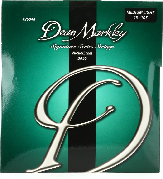 Dean Markley 2604A Nickel Steel Bass Guitar Strings - .045-.105 Medium Light image 1