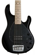 Ernie Ball Music Man StingRay 5 H - Gloss Black, Maple Fingerboard