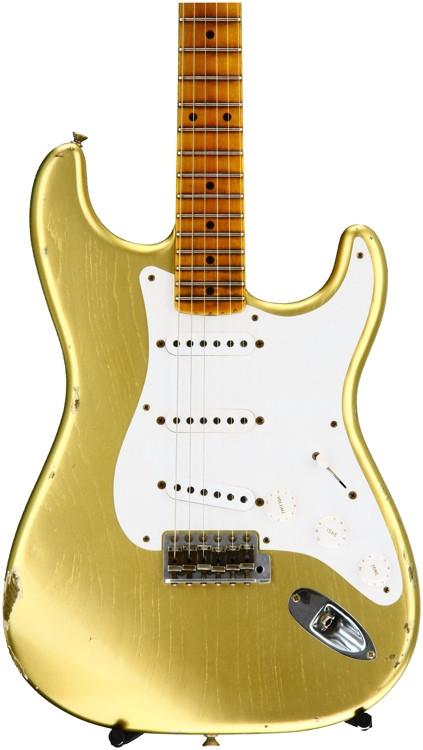 Fender Custom Shop 1955 Relic Stratocaster Ltd. Ed. - HLE Gold with Maple Fingerboard image 1