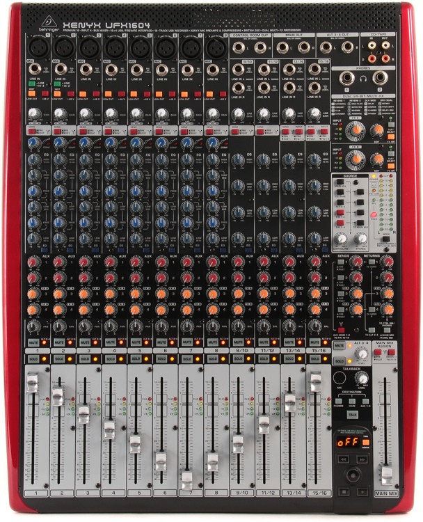 Behringer Xenyx UFX1604 Mixer and USB Audio Interface with Effects image 1