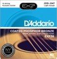 D'Addario EXP38 Coated Phosphor Bronze Light 12-String Acoustic Strings