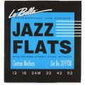 La Bella 20PCM Jazz Flats Stainless Steel Flatwound Electric Guitar Strings - Custom Medium
