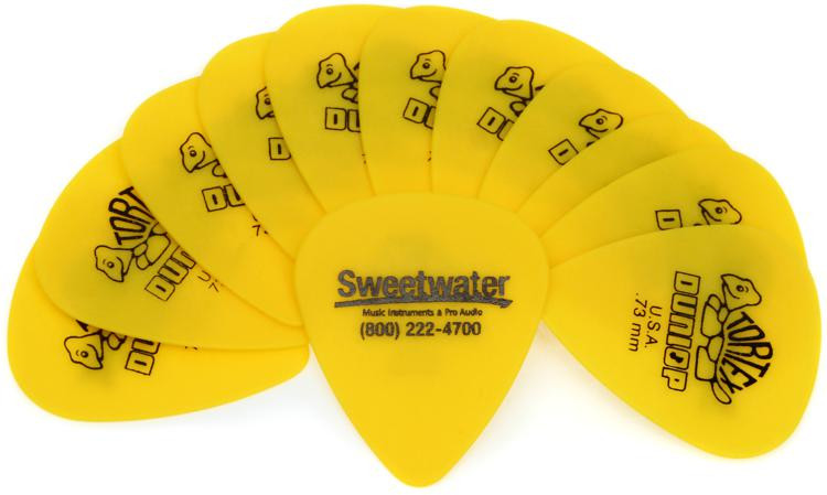 Dunlop Sweetwater Picks - 0.73 Tortex 12-pack image 1