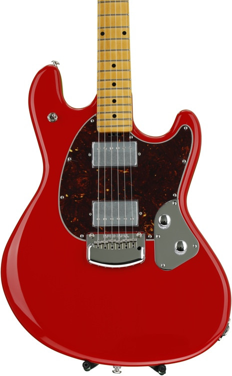 ernie ball music man stingray guitar chili red sweetwater. Black Bedroom Furniture Sets. Home Design Ideas