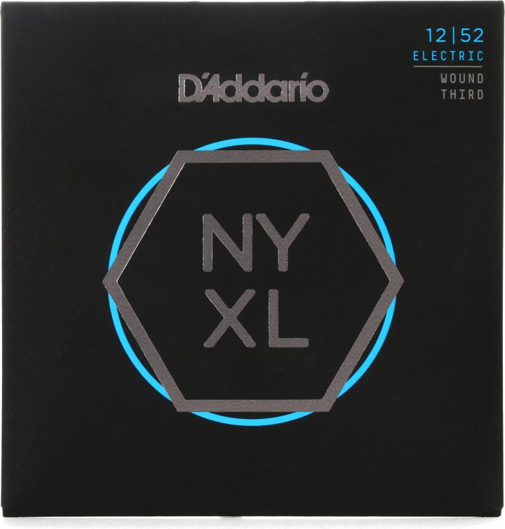 D\'Addario NYXL1252W Nickel Wound Electric Strings .012-.052 Light w/Wound 3rd image 1