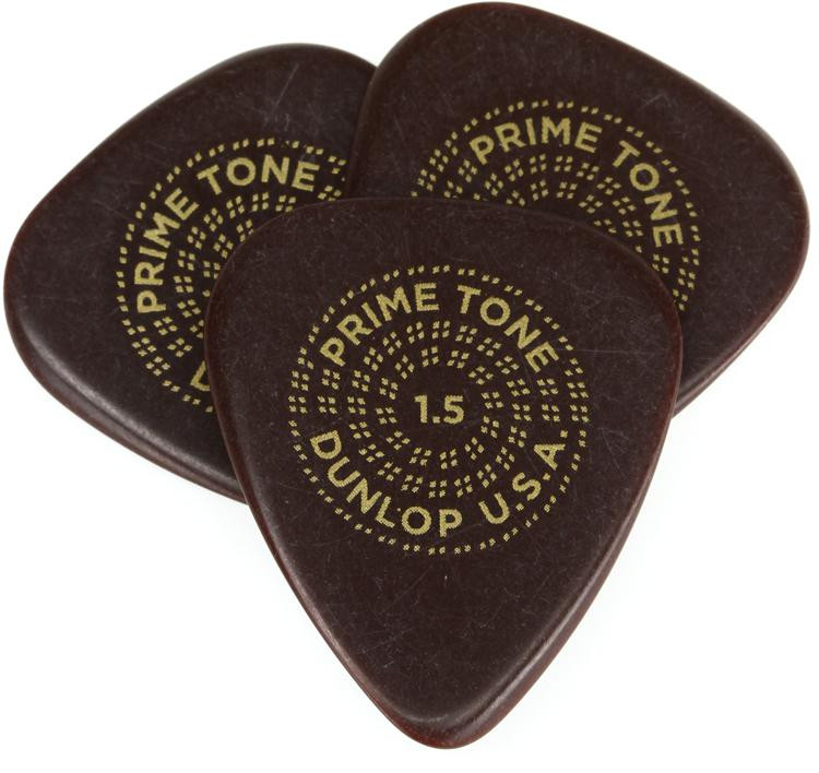 Dunlop Primetone Standard Smooth Pick 1.5mm 3-pack image 1