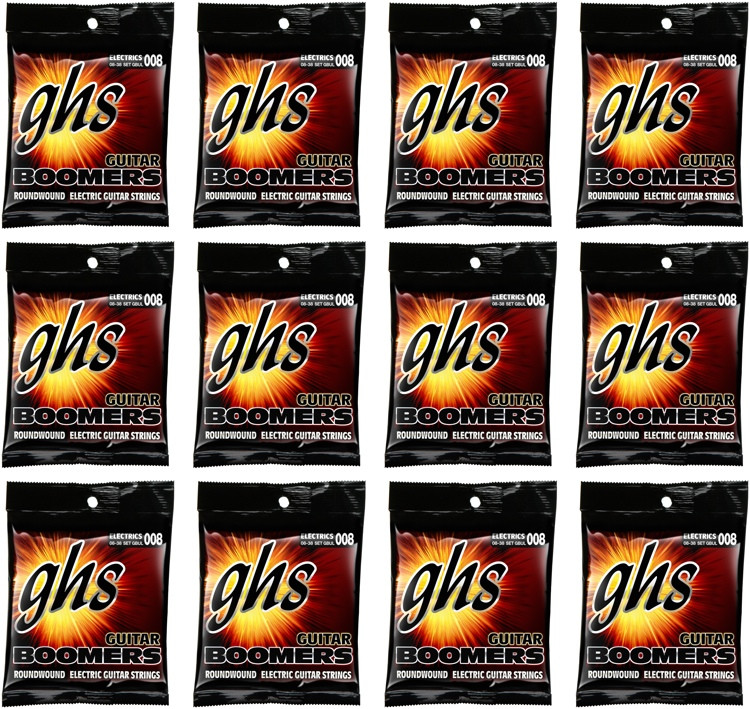 ghs gbul guitar boomers roundwound ultra light electric guitar strings 12 pack sweetwater. Black Bedroom Furniture Sets. Home Design Ideas