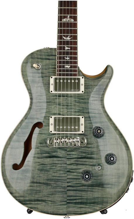 prs p245 semi hollow trampas green with pattern neck sweetwater. Black Bedroom Furniture Sets. Home Design Ideas