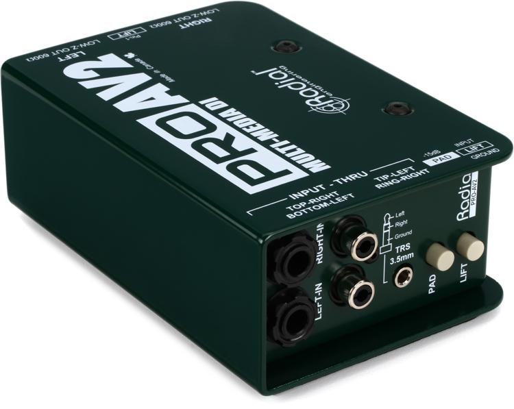 Radial ProAV2 2-channel Passive A/V Direct Box image 1
