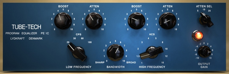 Softube Tube-Tech PE 1C Equalizer Plug-in image 1