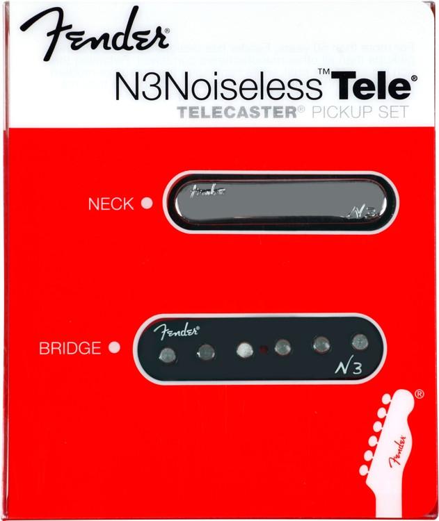 Fender N3 Noiseless Pickup - Tele - 2-piece Set image 1