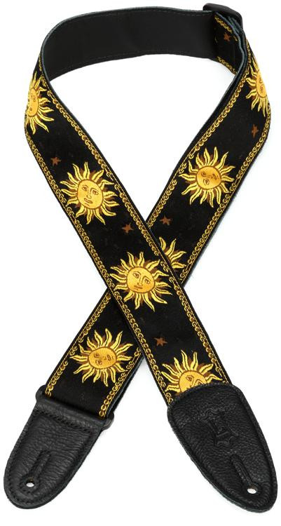 Levy\'s MPJG \'60s Sun Polyester Guitar Strap - Black image 1