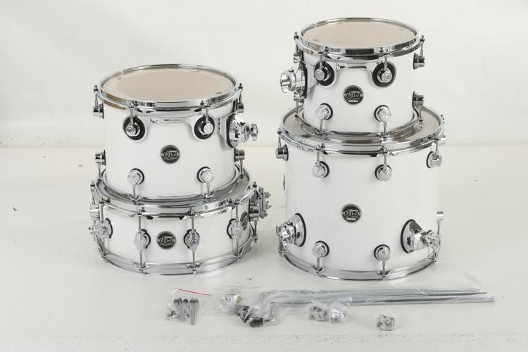 DW Performance Series 4-Piece Tom/Snare Pack - Gloss White Finish Ply image 1