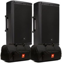 JBL EON612 Speaker Pair with Bags