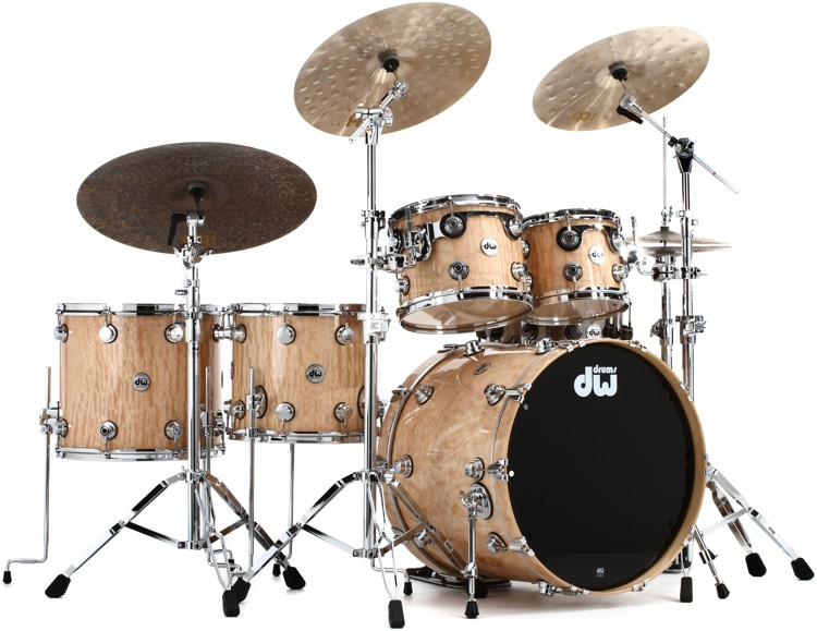 DW Collector\'s Series Exotic Shell Pack 5-piece - Natural Quilted Maple image 1