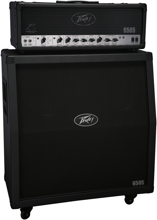 peavey 6505 half stack 120 watt head and 4x12 slant cabinet sweetwater. Black Bedroom Furniture Sets. Home Design Ideas