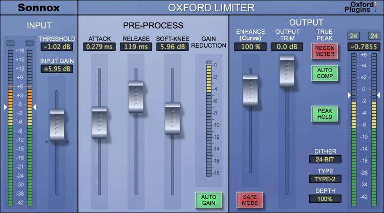 Sonnox Oxford Limiter Plug-in - Native image 1