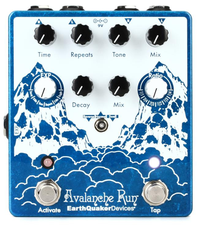 earthquaker devices avalanche run v2 delay and reverb pedal sweetwater. Black Bedroom Furniture Sets. Home Design Ideas