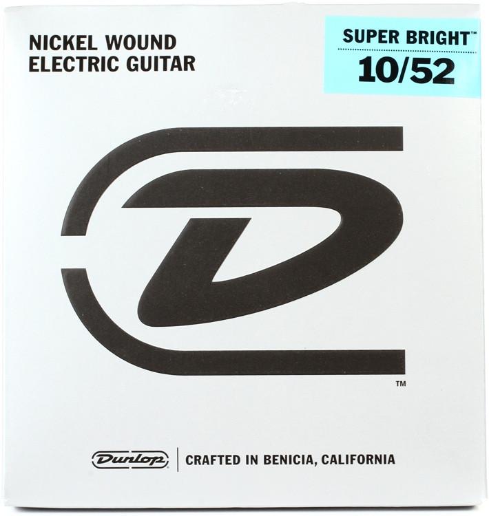 Dunlop Super Bright Electric Strings - .010-.052, Medium Hybrid image 1