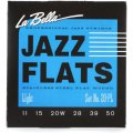 La Bella 20PL Jazz Flats Stainless Steel Flatwound Electric Guitar Strings - Light