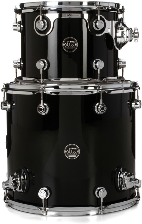 DW Performance Series 2-Piece Tom Pack - Gloss Black Finish Ply image 1