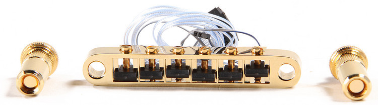 Graph Tech ghost Loaded Saddles for ResoMax NV Bridge with Autolock - 6mm Gold image 1